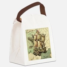 Ancient Map Canvas Lunch Bag