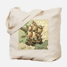 Ancient Map Tote Bag