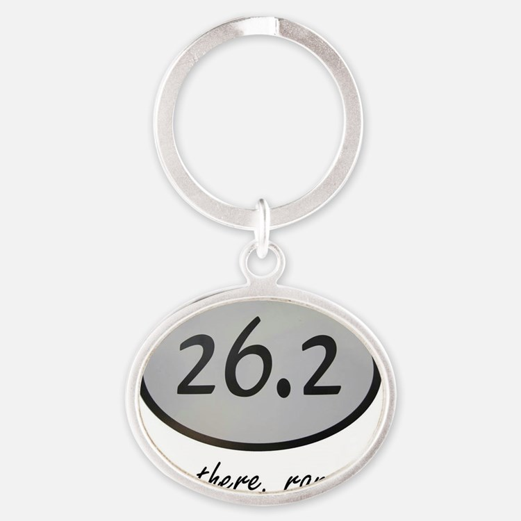 Been There 26.2 Oval Keychain