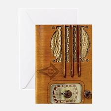 Masons Radio Greeting Card