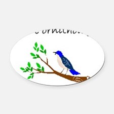 future ornithologist Oval Car Magnet
