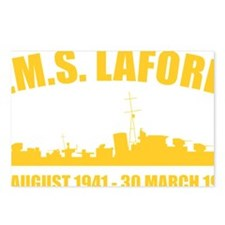 HMS Laforey - Gold Postcards (Package of 8)