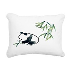 Panda and Bamboo Rectangular Canvas Pillow
