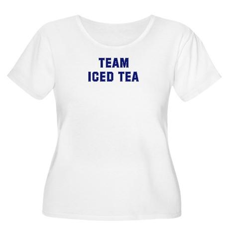 Team ICED TEA Women's Plus Size Scoop Neck T-Shirt