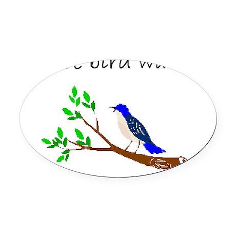 future bird watcher Oval Car Magnet