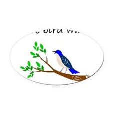 future bird watcher Oval Car Magnet