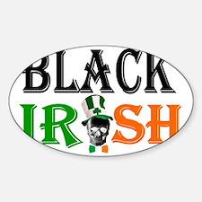 Black Irish St Patricks day Decal