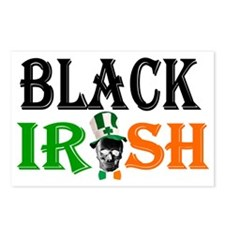 Black Irish St Patricks d Postcards (Package of 8)