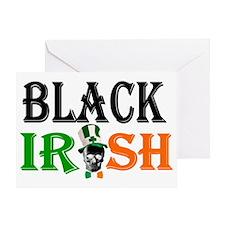 Black Irish St Patricks day Greeting Card