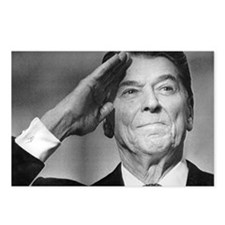 Ronald Reagan Salutes Postcards (Package of 8)