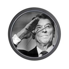 Ronald Reagan Salutes Wall Clock
