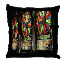 Las Vegas Slot Machines Throw Pillow