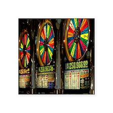 "Las Vegas Slot Machines Square Sticker 3"" x 3"""