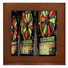 Las Vegas Slot Machines Framed Tile