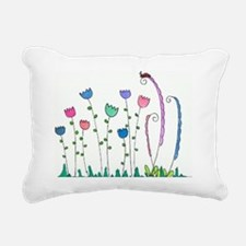 Spring Tulips Flowers La Rectangular Canvas Pillow