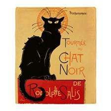 Famous black cat French Throw Blanket