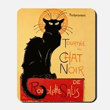 Famous black cat French Mousepad