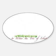 Tree of liberty white Sticker (Oval)