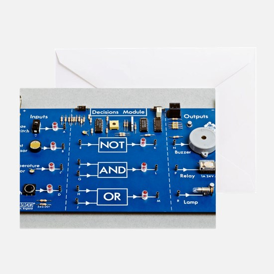 Educational circuit board Greeting Card