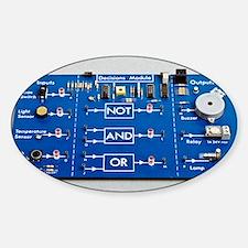 Educational circuit board Sticker (Oval)