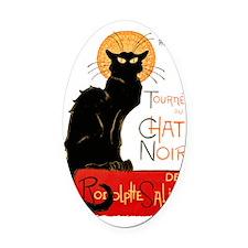 Tournee du Chat Steinlen Black Cat Oval Car Magnet