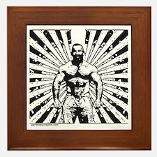 Muscle Bear Beams Framed Tile