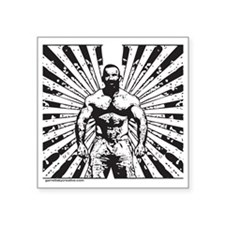 """Muscle Bear Beams Square Sticker 3"""" x 3"""""""