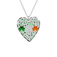 shamrocks Necklace Heart Charm