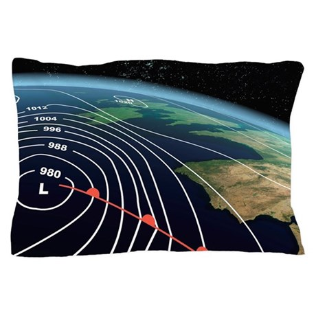 European severe storm, isobar diagram Pillow Case