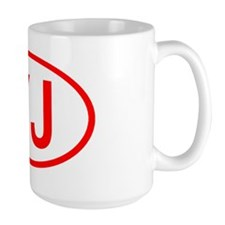 YJ Oval (Red) Mug