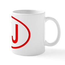 YJ Oval (Red) Mug