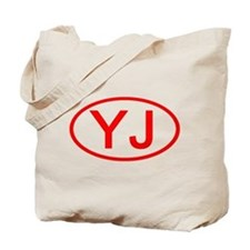 YJ Oval (Red) Tote Bag