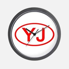 YJ Oval (Red) Wall Clock