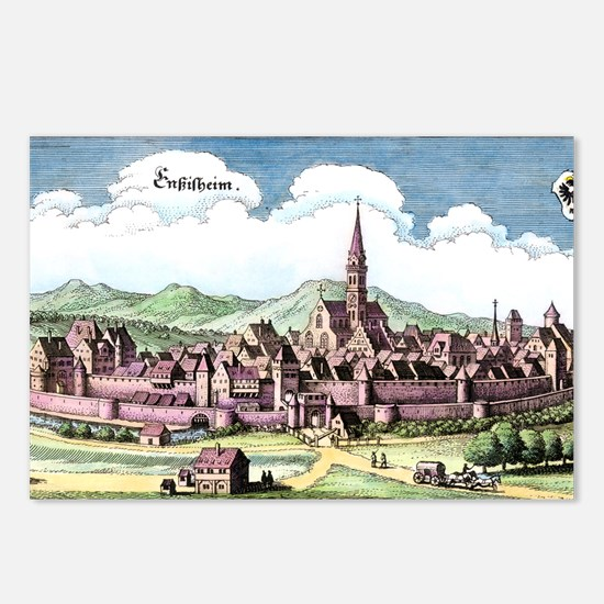 Ensisheim, France, 17th C Postcards (Package of 8)