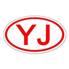YJ Oval (Red) Oval Decal
