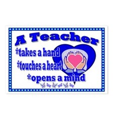 Teacher touches hearts SI Postcards (Package of 8)