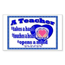 Teacher touches hearts SIGN Decal
