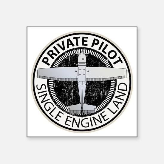 """Aviation Private Pilot Square Sticker 3"""" x 3"""""""