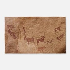 Pictograph of Lion attack, Libya 3'x5' Area Rug