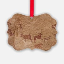 Pictograph of Lion attack, Libya Ornament