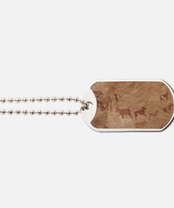 Pictograph of Lion attack, Libya Dog Tags