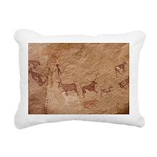 Pictograph of Lion attac Rectangular Canvas Pillow
