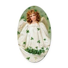 Blessings Angel Oval Car Magnet