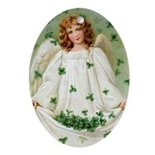 Blessings Angel Oval Ornament