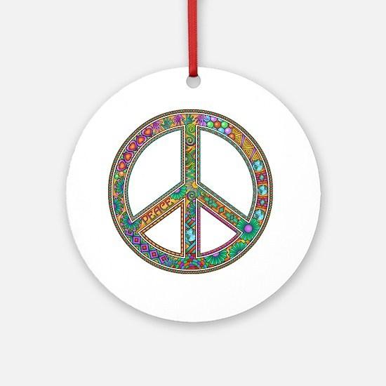 Peace Zen! Round Ornament