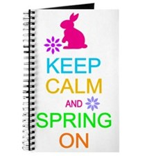 Keep Calm Spring On Easter Journal