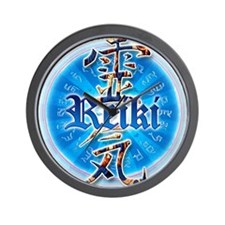 REIKI HEALING HANDS just for today don' Wall Clock