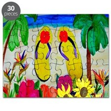 Flowers and Flip Flops Puzzle