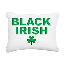 Black irish Rectangular Canvas Pillow