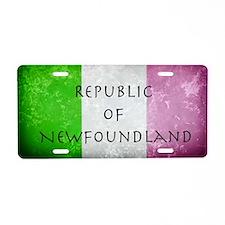 Republic of Newfoundland Fl Aluminum License Plate